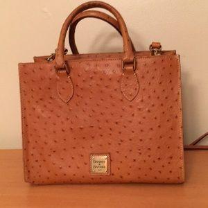 Dooney & Bourke ostrich Barlow top handle bag